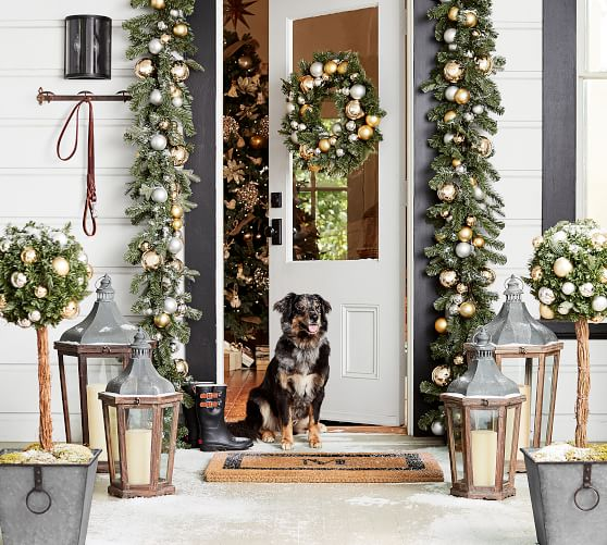 Outdoor Holiday Decorating Ideas Garland