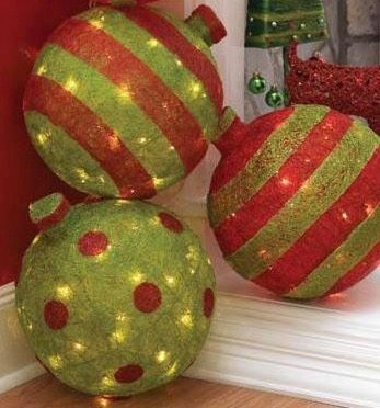 Fun Holiday lighted balls