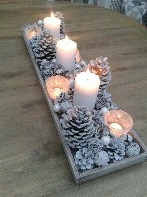 Candles accents for Outdoor Holiday Decorating